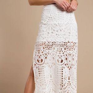 Tobi Lace Maxi Skirt